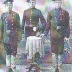 пётр фёдорович порохин (слева) со своими однополчанами в г.Сулваки (Польша) во время Брусиловского прорыва, 1916г.