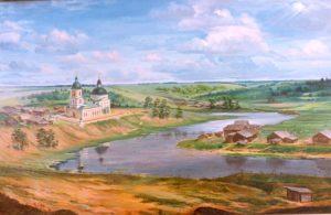 Вид на Хмельницкий Спасо - Преображенский храм