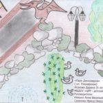 """""""Парк динозавров"""" (Исакова Дарина, 6 лет). МБДОУ """"РЦЦ- д./с """"Радуга"""". Воспитатели: Ивашко А. В. и Сазанова И. Н."""