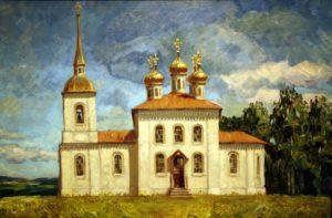 Так-выглядела-церковь-Рождества-Пресвятой-Богородицы-в-селе-Кремлево-в-XIX-веке