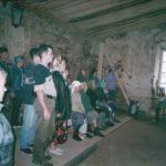 Богослужение в храме, август 2003 года