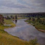«Река Вель в Коношском районе». Фото Петрова П. А. (КРКМ ОФ № 1027)